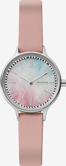 SKAGEN Uhr in hellblau / rosa / silber, Produktansicht