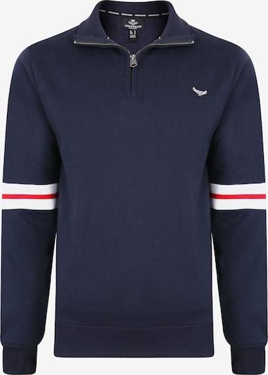 Threadbare Sweatshirt 'Ralf' in dunkelblau / rot / weiß, Produktansicht