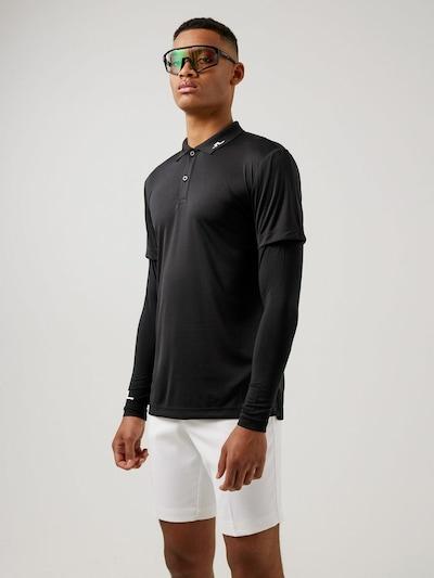 J.Lindeberg Shirt 'Leon' in de kleur Zwart, Productweergave