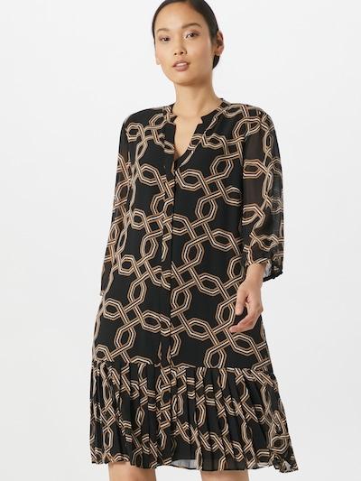 COMMA Kleid in braun / schwarz / weiß, Modelansicht