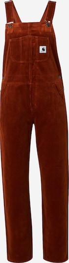 Carhartt WIP Salopette en rouge orangé, Vue avec produit