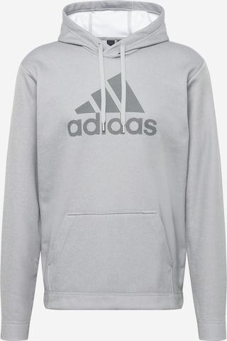 ADIDAS PERFORMANCE Αθλητική μπλούζα φούτερ σε γκρι