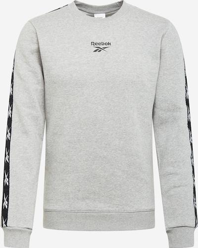 REEBOK Sportsweatshirt in graumeliert / schwarz / weiß, Produktansicht