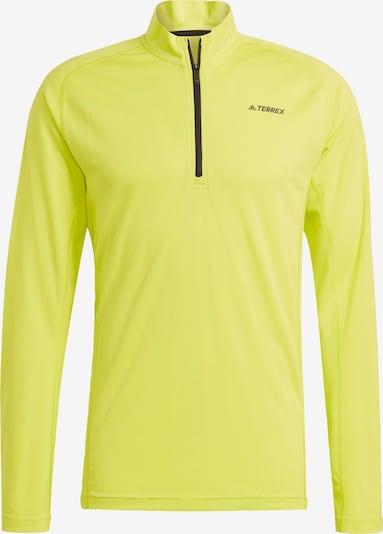 adidas Terrex Functioneel shirt 'Trace Rocker' in de kleur Citroengeel / Zwart, Productweergave