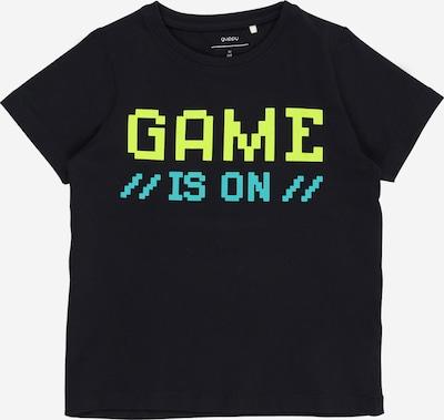 Guppy Shirt 'ZMMDIRCH' in navy / türkis / gelb, Produktansicht