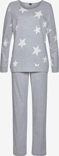 ARIZONA Pyjama in grau / rosa / weiß, Produktansicht