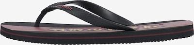 Superdry Teenslippers in de kleur Bourgogne / Zwart, Productweergave