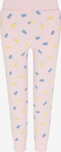 myMo KIDS Spodnie w kolorze podpalany niebieski / żółty / jasnoróżowym, Podgląd produktu