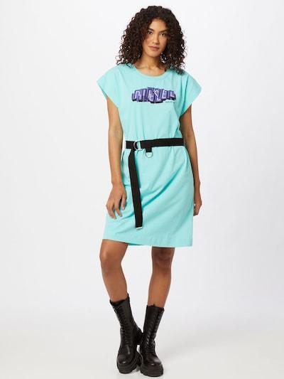 Vasarinė suknelė 'EASIEL' iš DIESEL , spalva - mėtų spalva / purpurinė / juoda, Modelio vaizdas