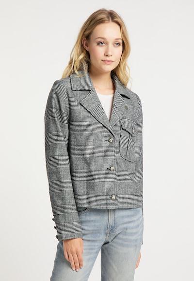 DreiMaster Vintage Blazer in grau / schwarz, Modelansicht