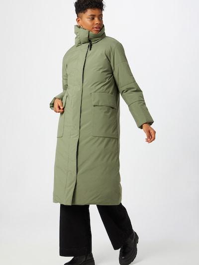 Demisezoninis paltas iš elvine , spalva - žalia, Modelio vaizdas
