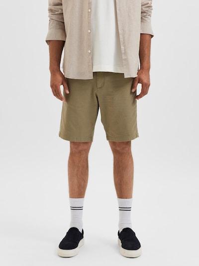 SELECTED HOMME Chino hlače 'Miles' u pastelno zelena, Prikaz modela