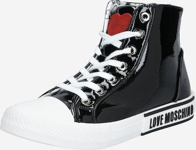 Love Moschino Zapatillas deportivas altas en rojo / negro, Vista del producto