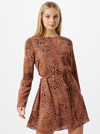 GLAMOROUS Kleid in braun / rot / schwarz, Modelansicht