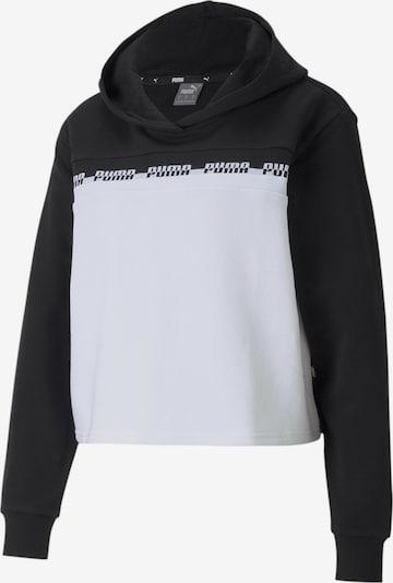PUMA Sportief sweatshirt in de kleur Zwart / Wit, Productweergave