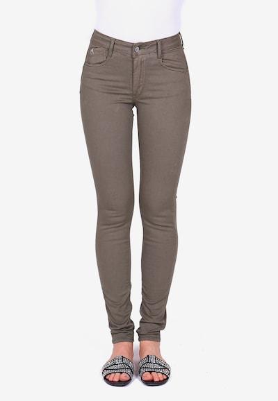 Le Temps Des Cerises Jeans im Slim-Fit-Schnitt in schlammfarben, Modelansicht