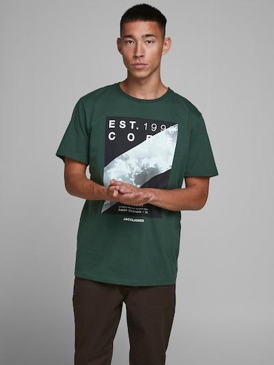 JACK & JONES Shirt in de kleur Lichtgrijs / Groen / Zwart: Vooraanzicht