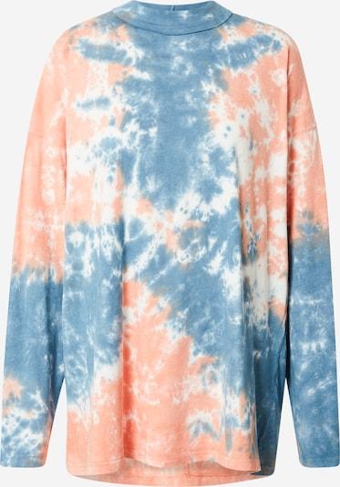 Tricou 'BE FREE' Free People pe albastru fumuriu / portocaliu piersică / alb, Vizualizare produs
