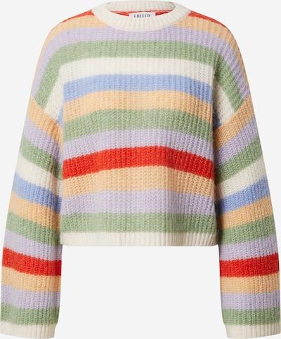 EDITED Pullover 'Louise' in creme / camel / pastellgrün / helllila / hellrot, Produktansicht