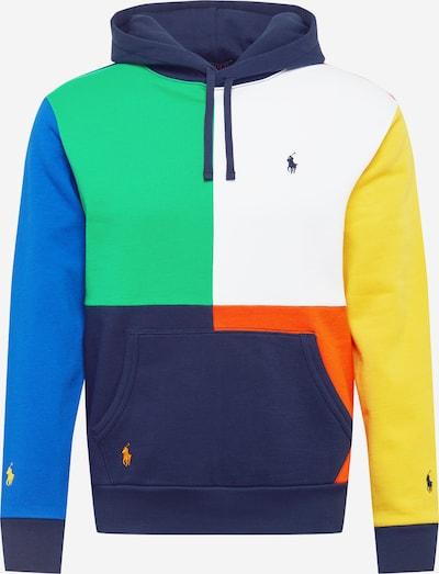 POLO RALPH LAUREN Sweatshirt in de kleur Navy / Hemelsblauw / Geel / Oranjerood / Wit, Productweergave