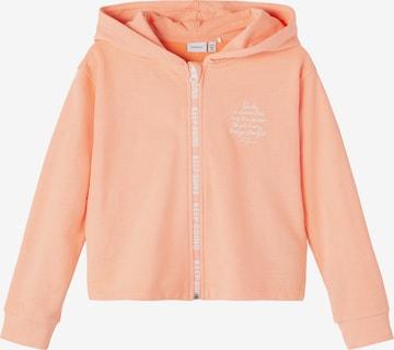 NAME IT Zip-Up Hoodie 'Latti' in Orange
