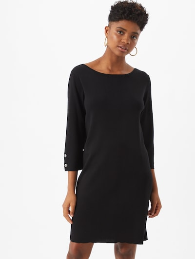 COMMA Robes en maille en noir, Vue avec modèle