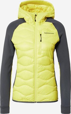 PEAK PERFORMANCE Outdoor Jacket in Yellow