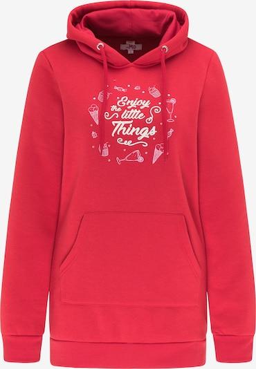 MYMO Sweatshirt in hellpink / grenadine / weiß, Produktansicht