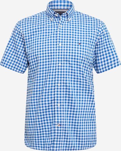 TOMMY HILFIGER Hemd in rauchblau / royalblau / weiß, Produktansicht