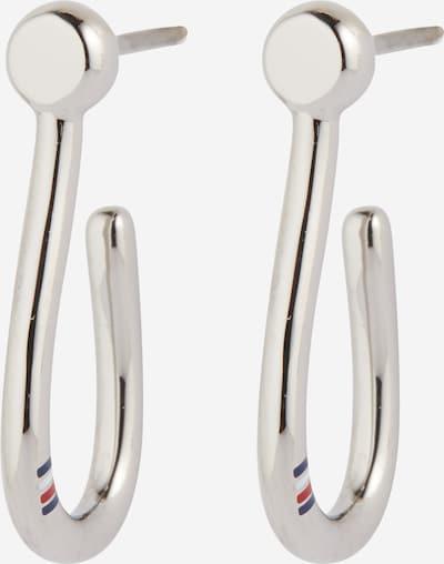 TOMMY HILFIGER Ohrringe in dunkelblau / melone / silber / weiß, Produktansicht