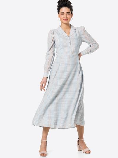 minus Kleid 'Cornelia' in dunkelbeige / azur, Modelansicht