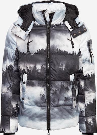 TOM TAILOR Winterjas in de kleur Grijs / Zwart / Wit, Productweergave