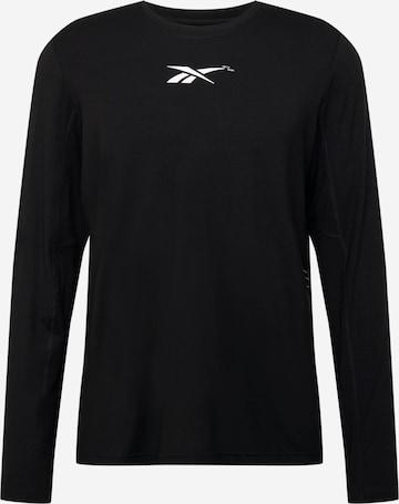 Reebok Sport Λειτουργικό μπλουζάκι σε μαύρο
