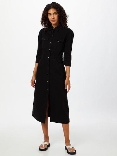AllSaints Robe-chemise 'Polly' en noir, Vue avec modèle