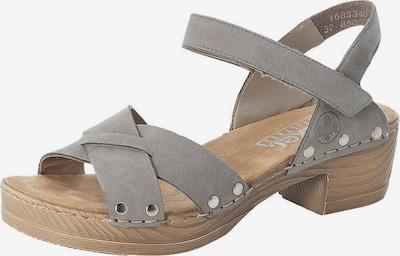 RIEKER Sandale in grau, Produktansicht