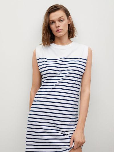 MANGO Kleid 'PICASA' in blau / offwhite, Modelansicht