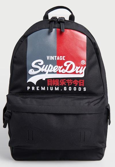 Superdry Rugzak 'Montana' in de kleur Marine / Grijs / Rood / Zwart, Productweergave