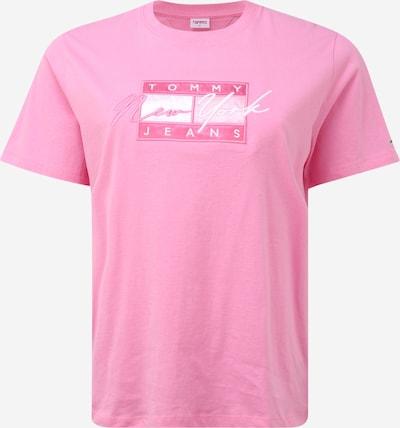 Tommy Jeans Curve T-shirt en rose clair / rose foncé / blanc, Vue avec produit