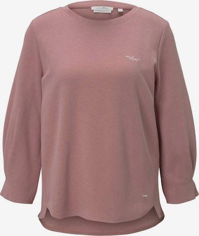 TOM TAILOR DENIM Sweatshirt in altrosa / weiß: Frontalansicht