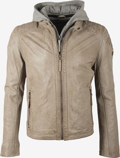 Gipsy Lederjacke 'NSLVV' in beige / grau, Produktansicht