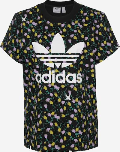 ADIDAS ORIGINALS T-Shirt ' AOP ' in gelb / lila / schwarz / weiß, Produktansicht