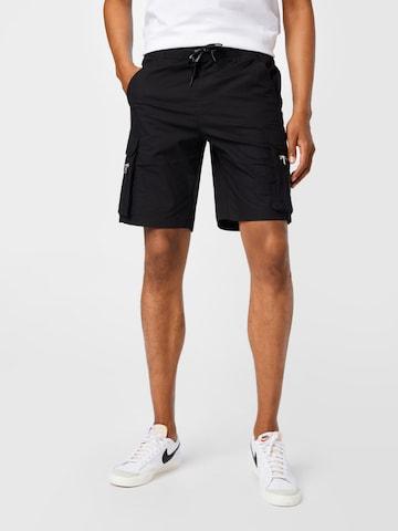 Calvin Klein Jeans Klapptaskutega püksid, värv must