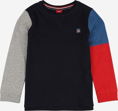 s.Oliver Shirt in blau / dunkelblau / graumeliert / rot, Produktansicht