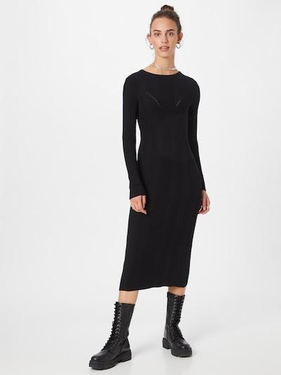 Y.A.S Sukienka z dzianiny 'CAMEO' w kolorze czarnym, Podgląd na modelu(-ce)