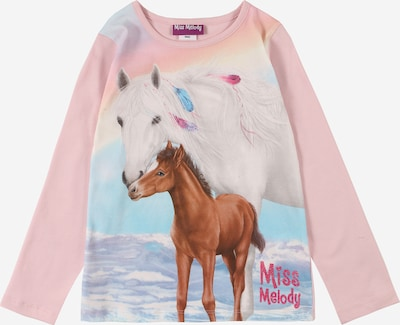 Miss Melody T-Shirt en mélange de couleurs / rose clair, Vue avec produit