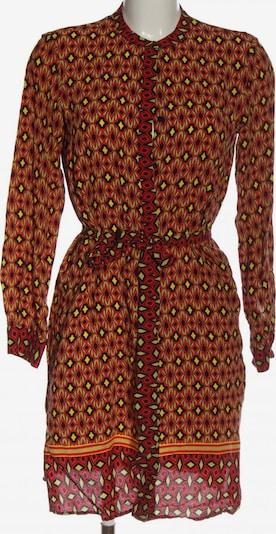 ZARA Shirtkleid in M in pastellgelb / hellorange / rot, Produktansicht