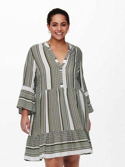 ONLY Carmakoma Kleid 'CARMARRAKESH' in grün / weiß, Modelansicht