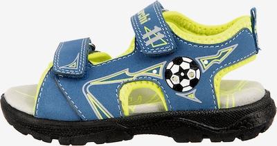 LURCHI Sandale in royalblau / neongelb / schwarz / weiß, Produktansicht