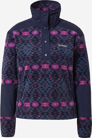 COLUMBIA Athletic Fleece Jacket 'Benton' in Navy / Dusty blue / Plum, Item view