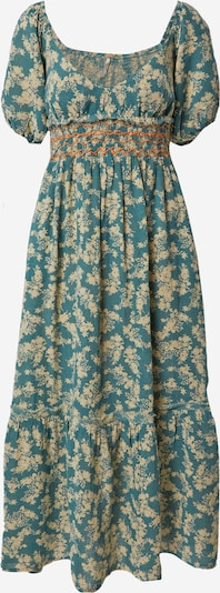 Free People Kleid 'ELLIE' in kitt / jade / hellorange, Produktansicht